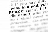 Peace (the Dictionary Project)