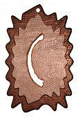 3d bronze parentheses mark