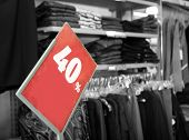 Shopping center. Sales