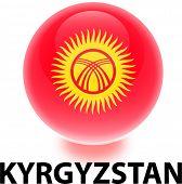 Orb Kyrgyzstan Flag