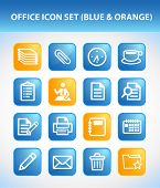 Office Icon Set (Blue & Orange)