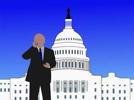 pic of lobbyist  - Senator talking on phone at capitol hill Washington DC - JPG