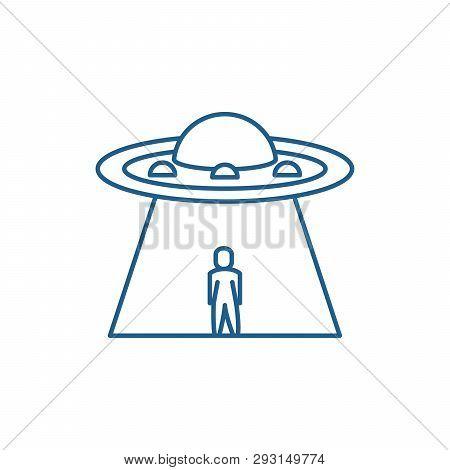 Ufo Line Icon Concept Ufo