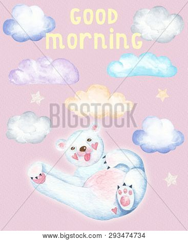 Stylish Cute Watercolor Card With