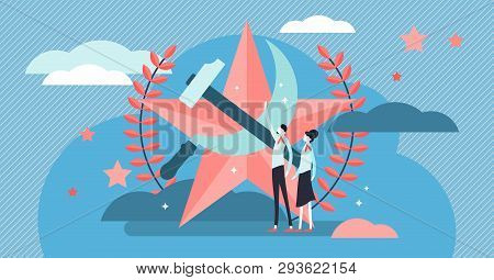 Communism Vector Illustration Flat Tiny