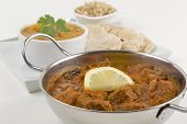 picture of tadka  - Meat madras served with pilau rice - JPG
