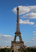 Tall Eiffel Tower Also Called Tour Eiffel In French Language In Paris France poster