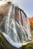 Plitvice Waterfalls In The Fall poster