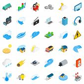 Intensity Icons Set. Isometric Style Of 36 Intensity Icons For Web Isolated On White Background poster