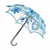 blue toy umbrella