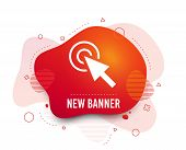 Fluid Badge. Mouse Cursor Sign Icon. Pointer Symbol. Abstract Shape. Gradient Cursor Icon. Flyer Liq poster