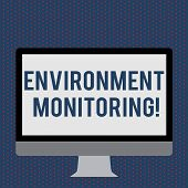 Text Sign Showing Environment Monitoring. Conceptual Photo Observing And Studying Conditions Of The  poster