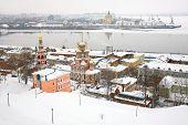 Постер, плакат: Января вид стрелка Нижний Новгород Россия