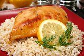 Limonada frango no arroz integral