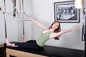 Pretty Pilates Instructor On Cadillac Convertible/Trap Table