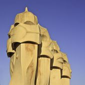 Chimneys, Casa Mila, Barcelona, Spain