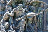 Bronze statues.