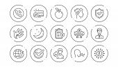 Check Mark, Sharing Economy And Mindfulness Stress Line Icons. Privacy Policy, Social Responsibility poster