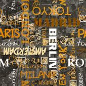 art vintage word pattern background