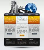plantilla moderno de diseño web para empresa