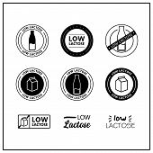 Low Lactose Icons poster