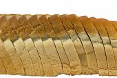 Slices Of Bread Isolated On White Background With Clipping Path