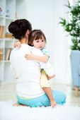 Mom Consoles Her Crying Daughter. Dont Worry, Do Not Cry poster