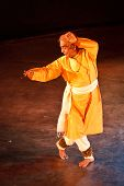 CHENNAI, INDIA - DECEMBER 28: Indian classical dance Kathak preformance by famous exponent Bhirju Ma
