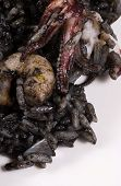pic of negro  - Arroz negro traditional Spanish rice cooked with squid ink - JPG