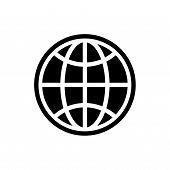 Web Globe Icon Isolated On White Background. Web Globe Icon In Trendy Design Style. Web Globe Vector poster
