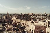 David Tower Museum, Jerusalem Old City . The Tower Of David Is An Ancient Citadel Located Near The J poster