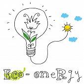 Eco energy, vector drawing Eco_energy.eps