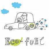 Eco fuel, vector drawing Eco_fuel