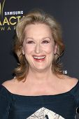 LOS ANGELES - 27 de JAN: Meryl Streep chega no AUSTRALIAN INTERNATIONAL ACADEMY AWARDS no Soho H