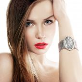 stock photo of watch  - silver watch - JPG