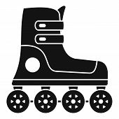 Race Inline Skates Icon. Simple Illustration Of Race Inline Skates Vector Icon For Web Design Isolat poster