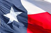 Bandera de Texas close up