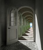Arched Doorway To Heaven