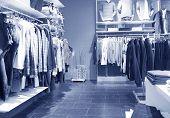 Interior of men's clothing shop.