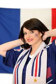 A French football supporter