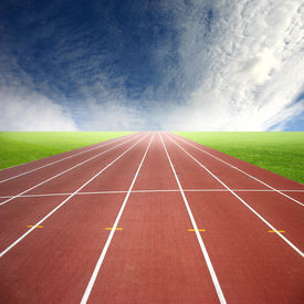 foto of race track  - Its a racing track for runners athlete sport - JPG