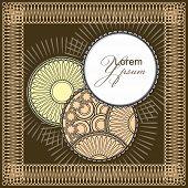 Round Filigree Ornamental Pattern