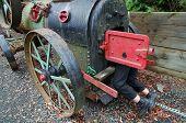 steam engine and worker