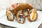 mixed Sicilian cannoli