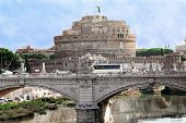 A View Of The Fortress Of Castel Santangelo In Rome