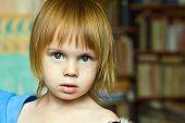 Portrait Of Small Beauty Girl