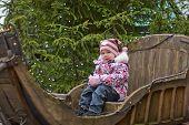 Little Girl On Sleigh
