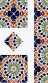 Mexican Flower Talavera Style Tile Design