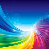 Abstract rainbow colors wave background.
