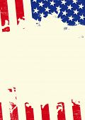 Grunge american flag . A poster with an american flag torn